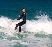 Surfer Chick by Scott Weeding