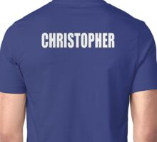 CHRISTOPHER, Topher, Name, Tag, Chris, Kit Unisex T-Shirt