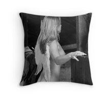 Barn Angel No.4 Throw Pillow