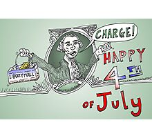 GW Charge of Liberty on the 4th of July Photographic Print