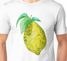 Low Poly Watercolor Lemon Unisex T-Shirt