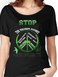 Stop the violence against Women's Relaxed Fit T-Shirt