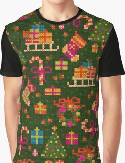 christmas x-stitch pattern for the holiday mood Graphic T-Shirt