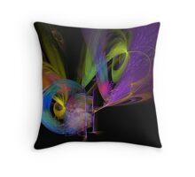 Peacock Fantasies Throw Pillow