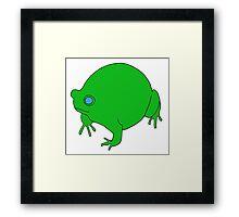 Fat Frog Framed Print