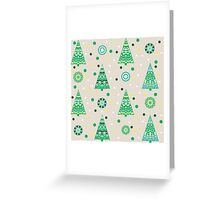 New Year pattern with fir trees Greeting Card