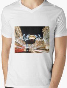 Regent Street London Mens V-Neck T-Shirt
