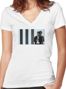 Noel Gallagher Women's Fitted V-Neck T-Shirt
