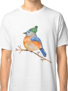 Watercolor Winter Bird Classic T-Shirt