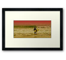 A Surfing I Will Go Framed Print