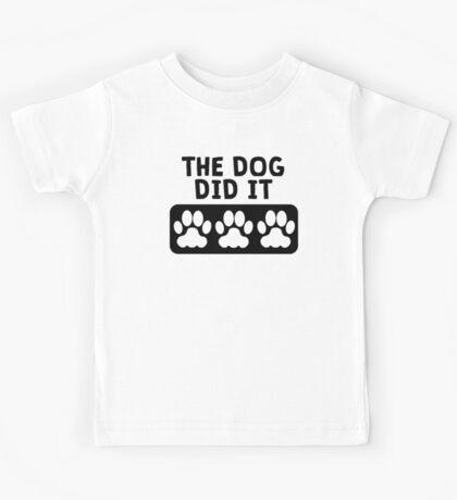 The Dog Did It Kids Tee