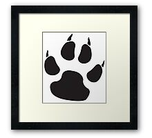 CAT, PAW, PADS, CLAWS, feline, Cats Paw, Catspaw, Dog Paw, Dog, Pet, foot, track, scratch, BLACK Framed Print