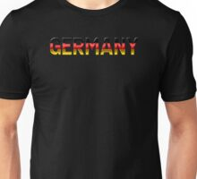 Germany - German Flag - Metallic Text Unisex T-Shirt