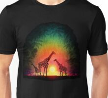Giraffes at sunset Unisex T-Shirt