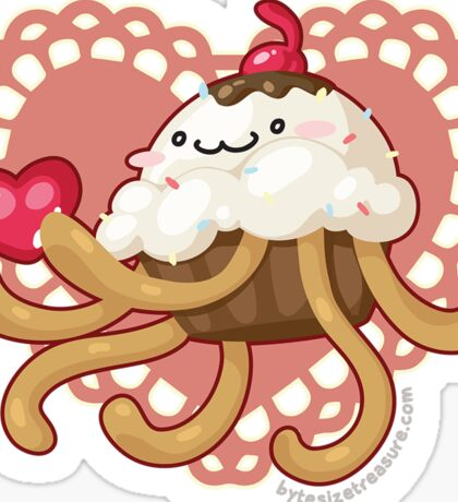 Cupcake Jellyfish Love Sticker