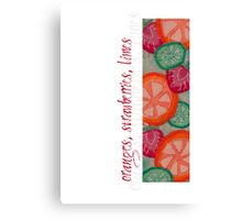 Sweet & Juicy Fruits Canvas Print