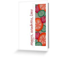 Sweet & Juicy Fruits Greeting Card