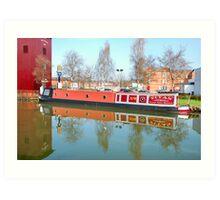 The Traditional English Canal Narrow  Boat. Art Print