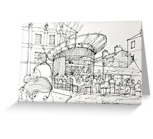 Razzo cafe sketch Greeting Card