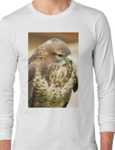 Common Buzzard (Buteo buteo) Long Sleeve T-Shirt