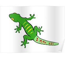 Gecko Coupon (One Free Tail) Poster