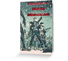 Walkers in a Winter Wonderland Greeting Card