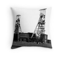 Clipstone Colliery, Clipstone, Nottinghamshire Throw Pillow