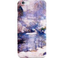 Snow in the forest iPhone Case/Skin