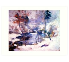 Snow in the forest Art Print