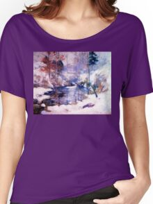 Snow in the forest Women's Relaxed Fit T-Shirt
