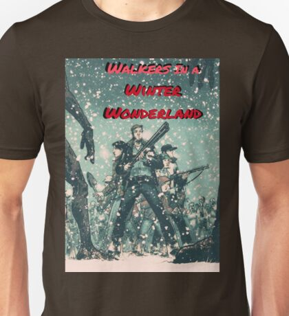 Walkers in a Winter Wonderland Unisex T-Shirt