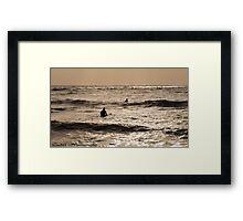 Sublime Sunrise Surfing Framed Print