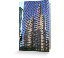 Skyscraper Reflections Greeting Card