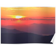 Mountain Sunset Poster