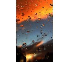 Sunset raindrops Photographic Print