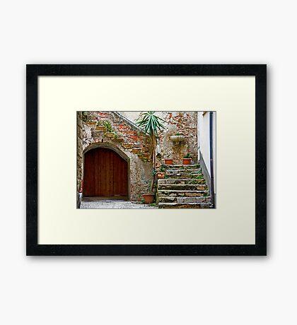 Cefalu Staircase Framed Print