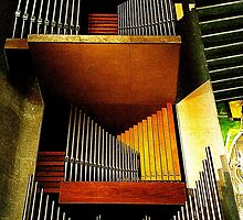 Organ pipes, Coventry Cathedral 2 by Robert Steadman