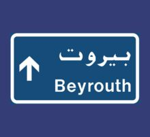 Beirut Road Sign, Lebanon by worldofsigns