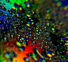 Waterdrops - Rainbow Colors II by Henry Jager