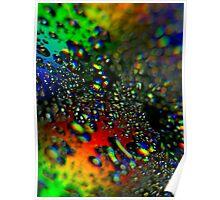 Waterdrops - Rainbow Colors II Poster