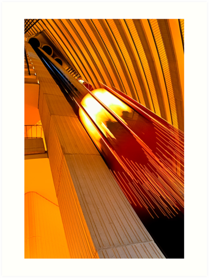 Photon - Golden Abstract in Motion by Mark Tisdale