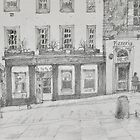 Petit Paris pencil sketch by Peter Lusby Taylor