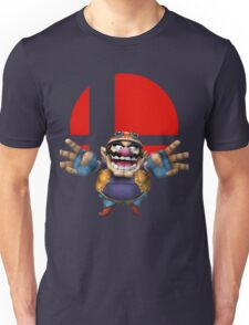 wario t-shirt smash bros brawl  Unisex T-Shirt