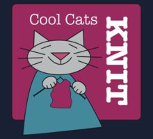 Cool Cats Knit Pink Kids Tee