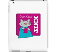 Cool Cats Knit Pink iPad Case/Skin