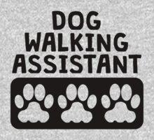 Dog Walking Assistant Kids Tee