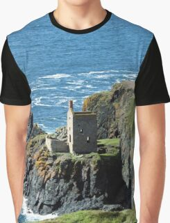 Botallack Crown Engine Houses Cornwall Graphic T-Shirt