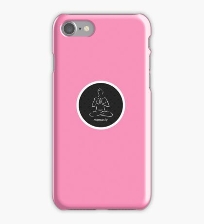 Yoga Namaste Calmness (White) iPhone Case/Skin