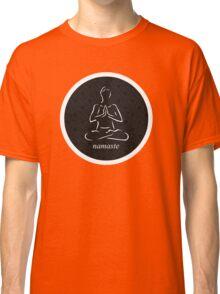 Yoga Namaste Calmness (White) Classic T-Shirt
