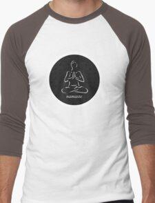 Yoga Namaste Calmness (White) Men's Baseball ¾ T-Shirt